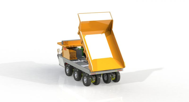 Self propelled dump truck by TECO