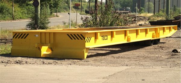 Rolltrailer for warehouse logistics, payload of 120t
