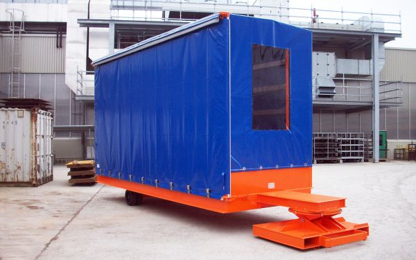 Rolltrailer with roof, payload of 10t