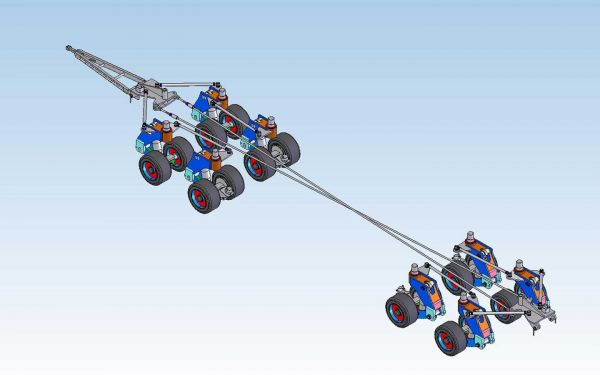 Heavy duty trailer with mechanical steering
